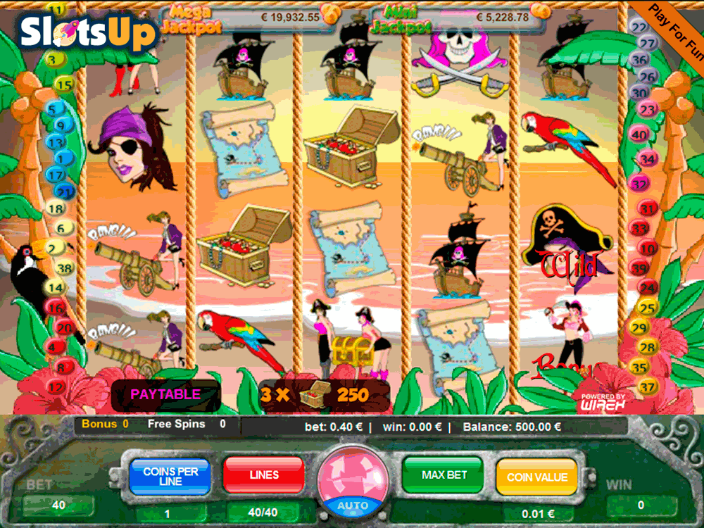 pink rose pirates portomaso casino slots