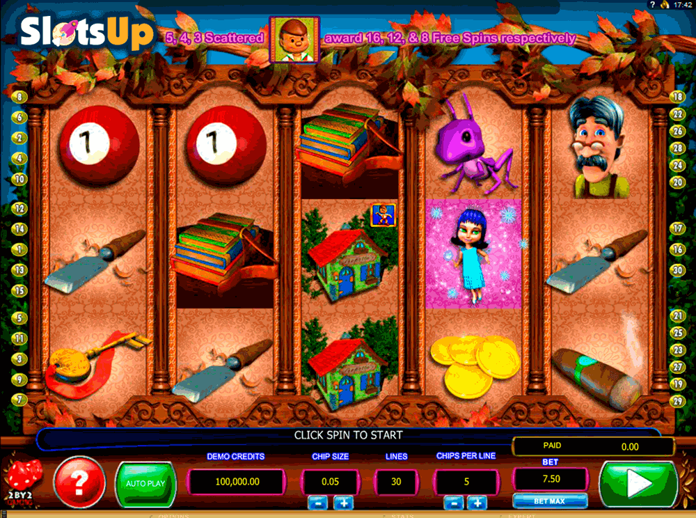 PINOCCHIOS FORTUNE 2BY2 GAMING CASINO SLOTS