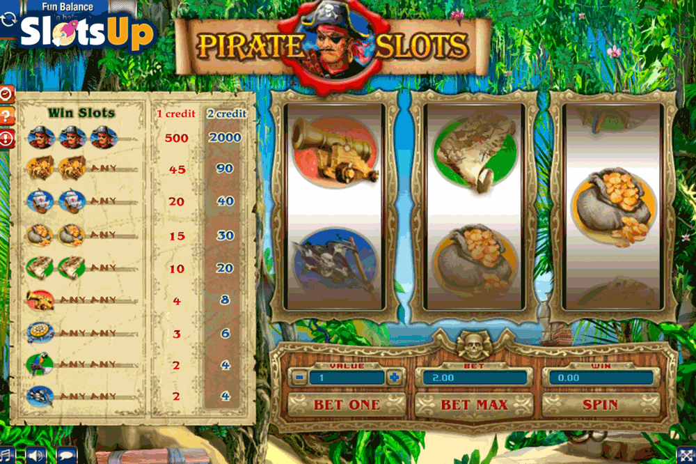 Pirates Treasure Slot Machine - Play this Video Slot Online