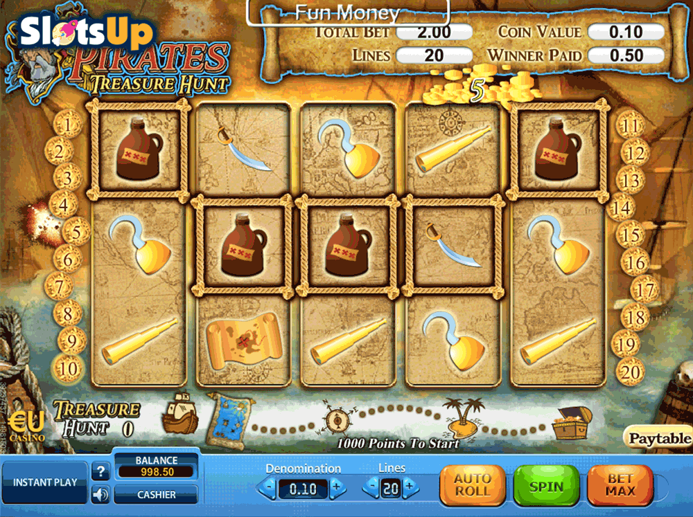 Pirates Treasure Hunt Slots - Play for Free Online Today