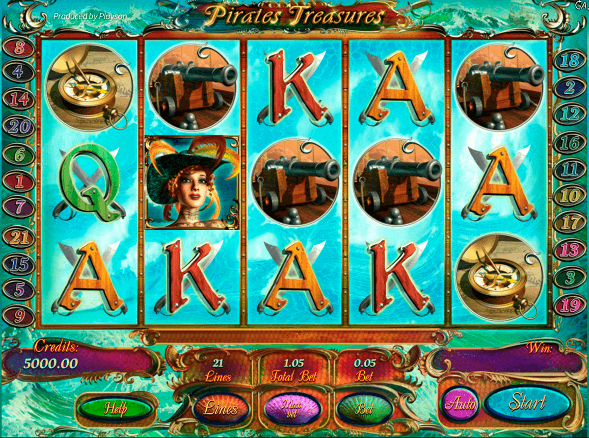 Pirates Treasures Deluxe Slot Machine Online ᐈ Playson™ Casino Slots