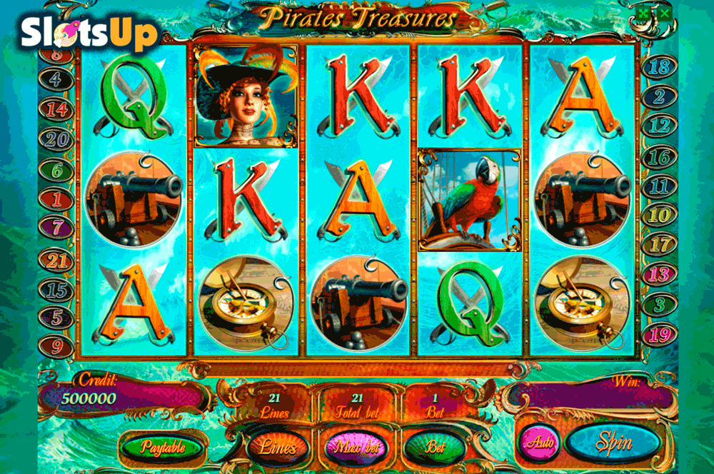 pirates treasures playson casino slots