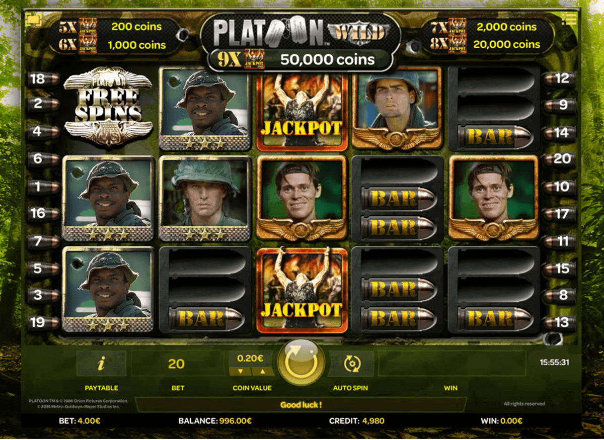 Platoon™ Slot Machine Game to Play Free in iSoftBets Online Casinos