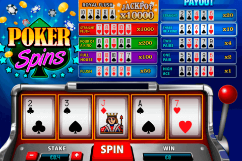 poker spins pariplay slot machine 480x320