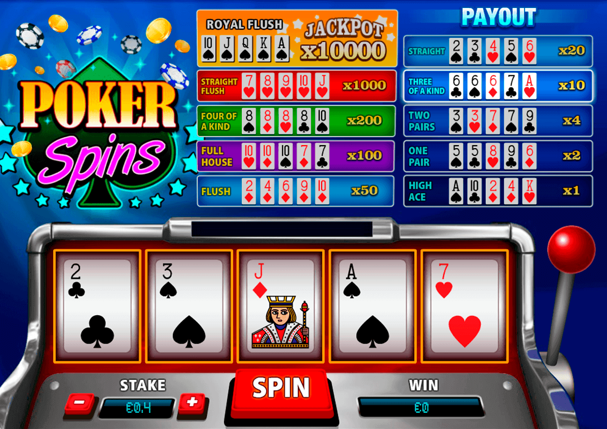 free casino poker machines