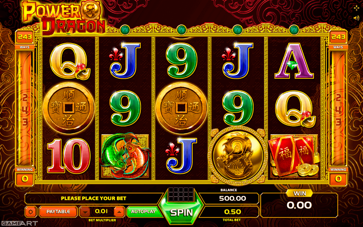 Power Dragon Slots - Free Online Gameart Slot Machine Game