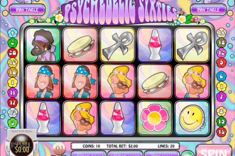 PSYCHEDELIC SIXTIES RIVAL CASINO SLOTS