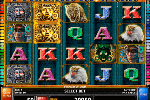 PYRAMID OF GOLD CASINO TECHNOLOGY SLOT MACHINE