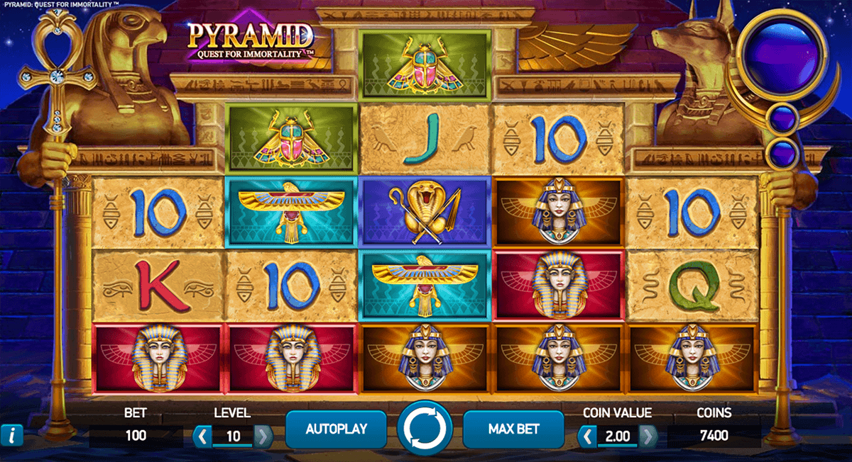 Pyramid: Quest for Immortality Slot Machine - NetEnt Slots