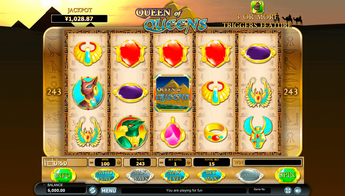 QUEEN OF QUEENS HABANERO SLOT MACHINE