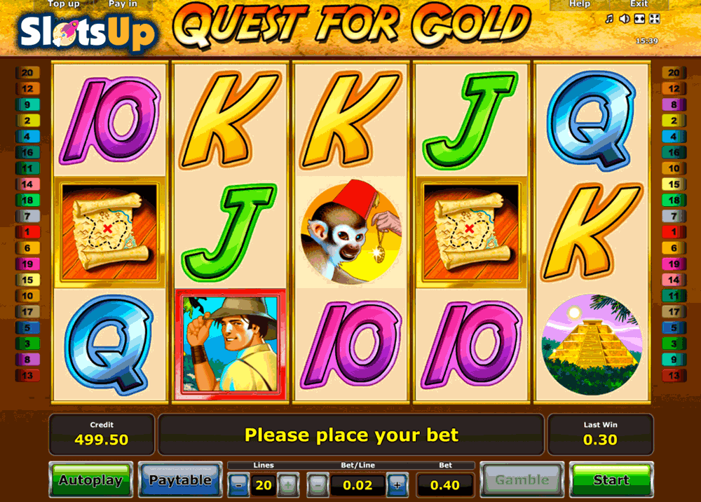 QUEST FOR GOLD NOVOMATIC CASINO SLOTS