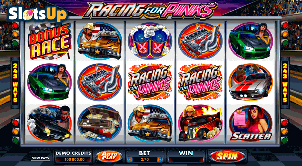 racing for pinks microgaming casino slots