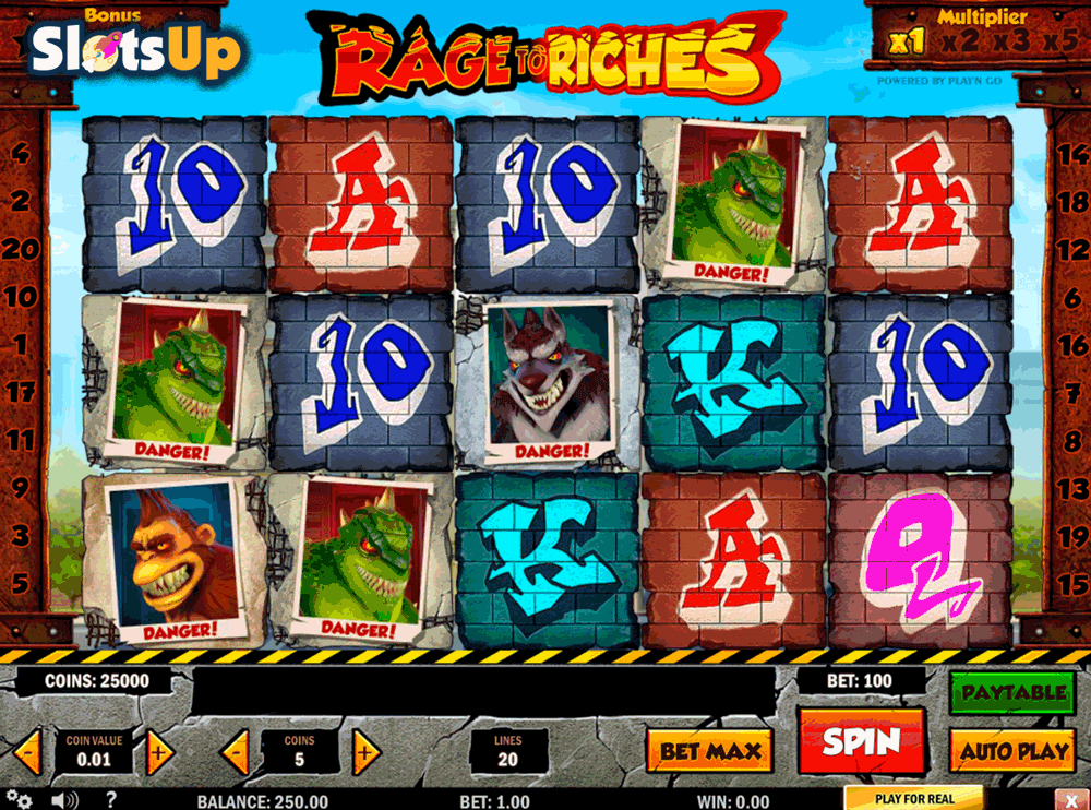 Rage to Riches™ Slot Machine Game to Play Free in Playn Gos Online Casinos