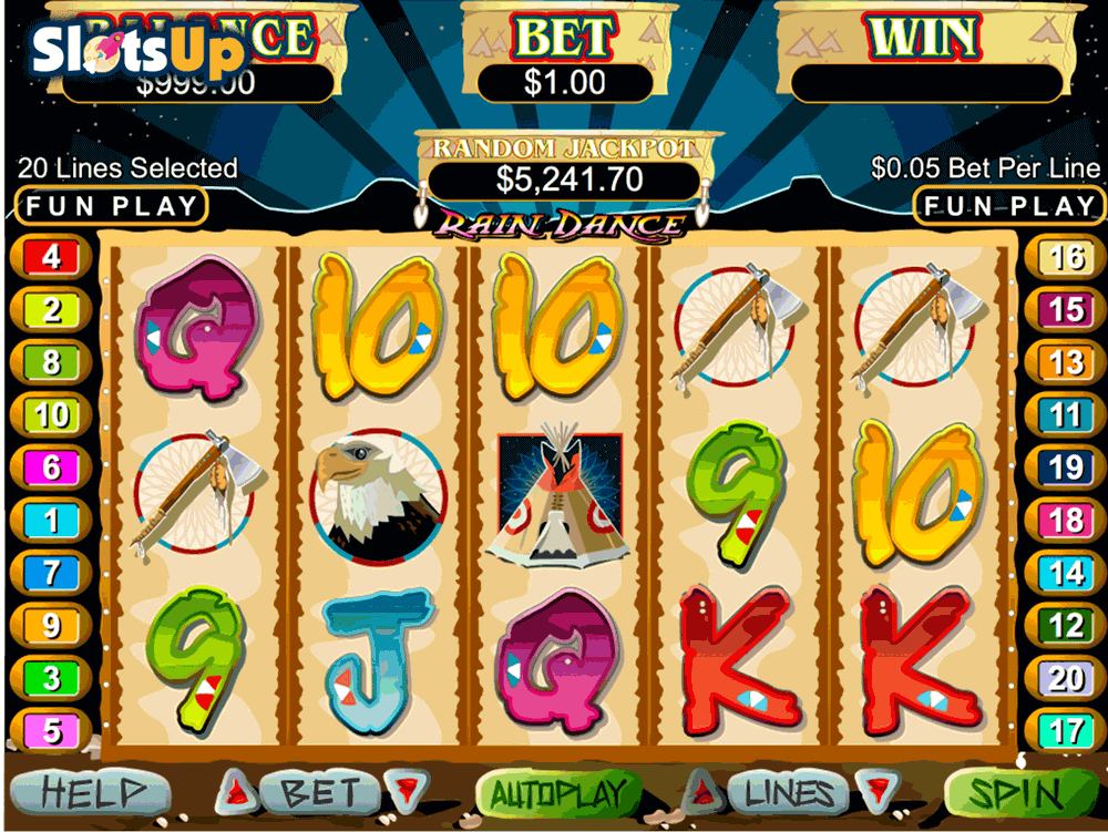 Rain Dance Slot Machine - Play it for Free Online
