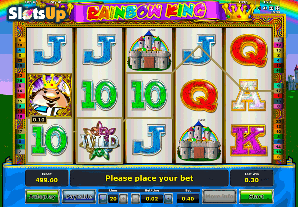 casino slot online english rainbow king