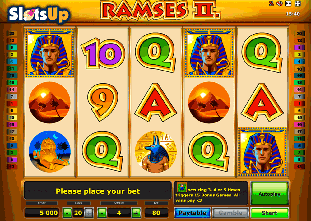 Ramses II Slot Machine Online ᐈ Novomatic™ Casino Slots