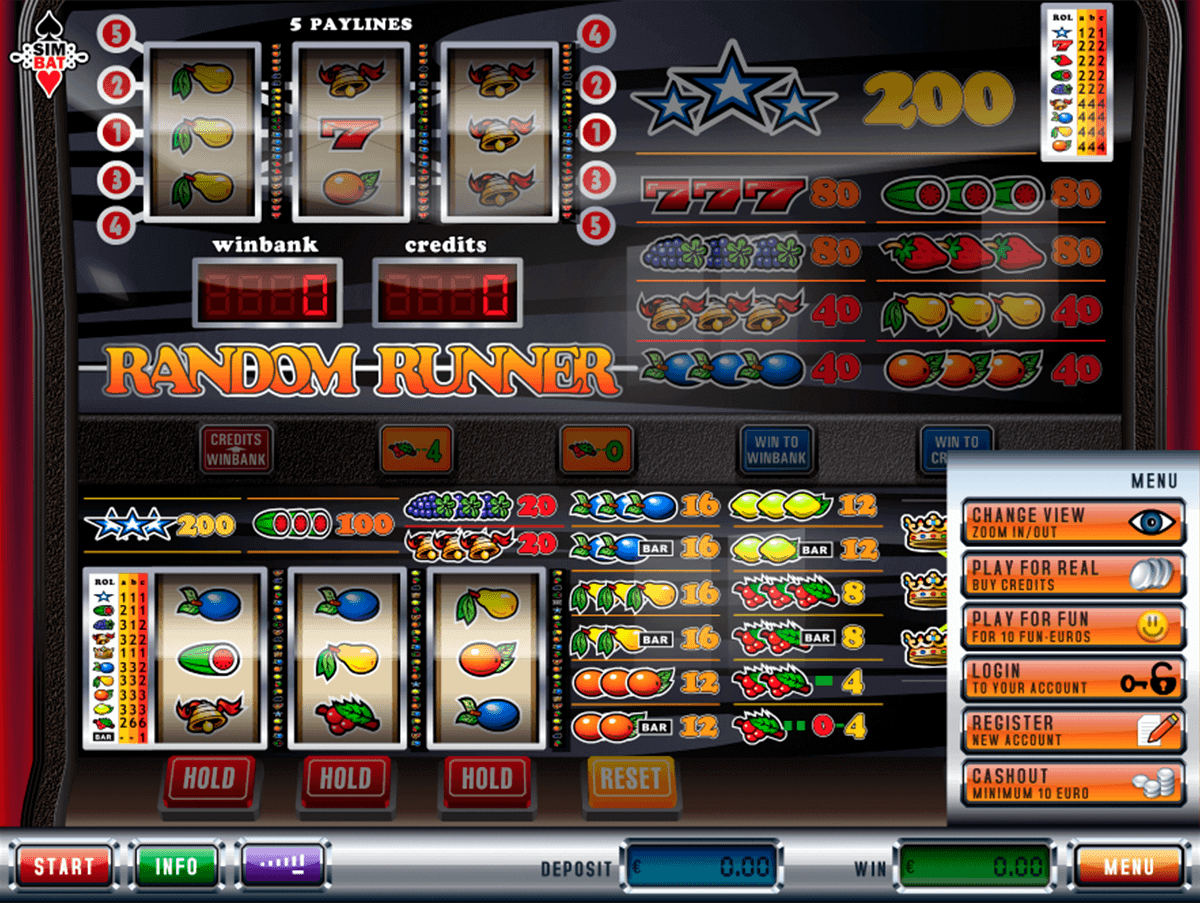 Random runner slot free slots video no download