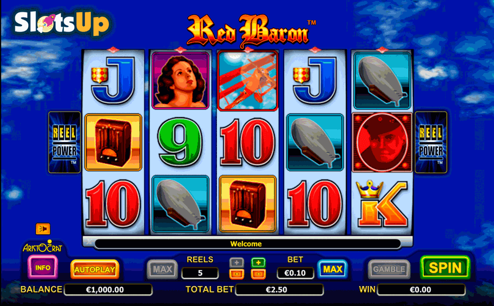 red baron aristocrat casino slots