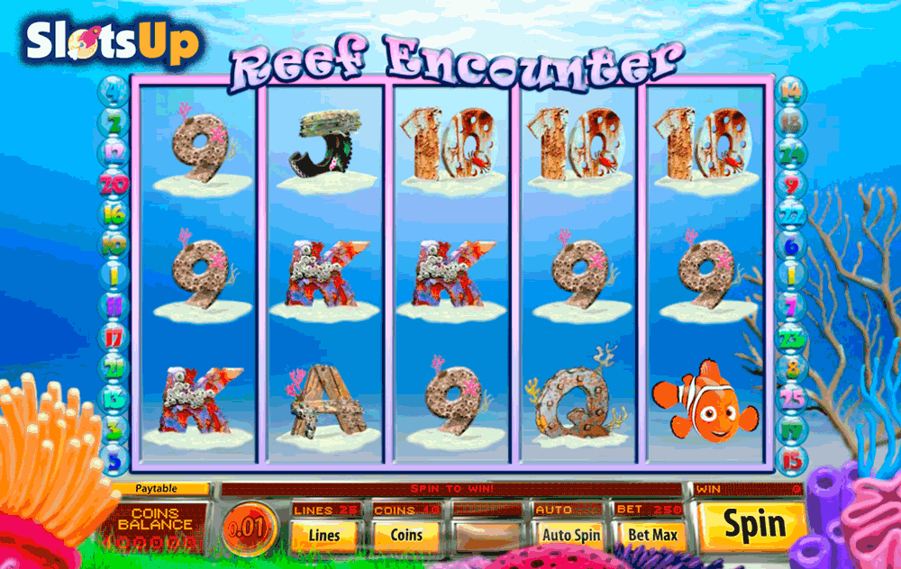 Reef Encounter Online Slot Machine - Free to Play Online Now