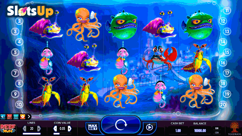 Reef Run™ Slot Machine Game to Play Free in Yggdrasil Gamings Online Casinos