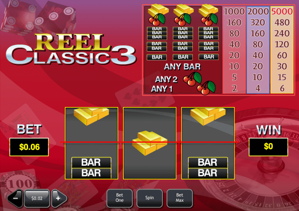 Play Reel Classic 3 Slots Online at Casino.com NZ