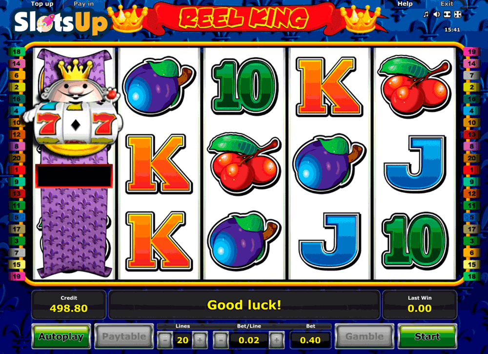 free online casino slot reel king