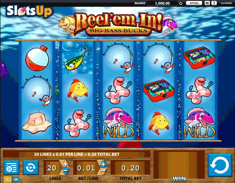 reelem in big bass bucks wms casino slots