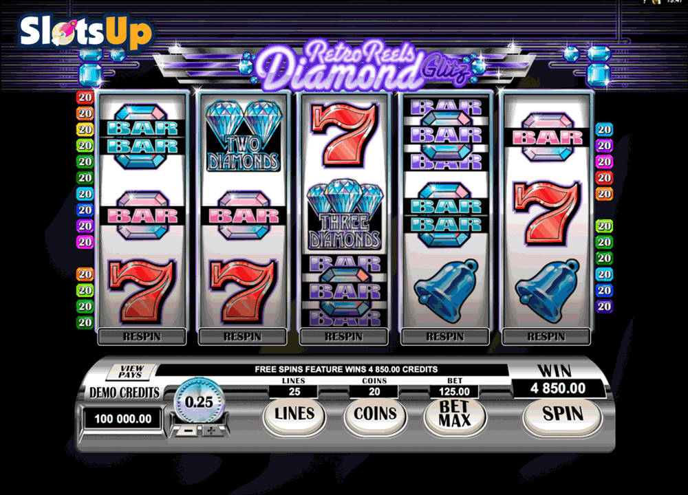 retro reels diamond glitz microgaming casino slots