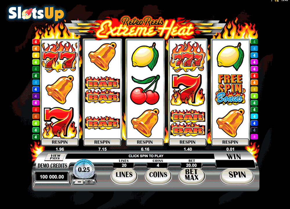 Retro Reels Extreme Heat!™ Slot Machine Game to Play Free in Microgamings Online Casinos