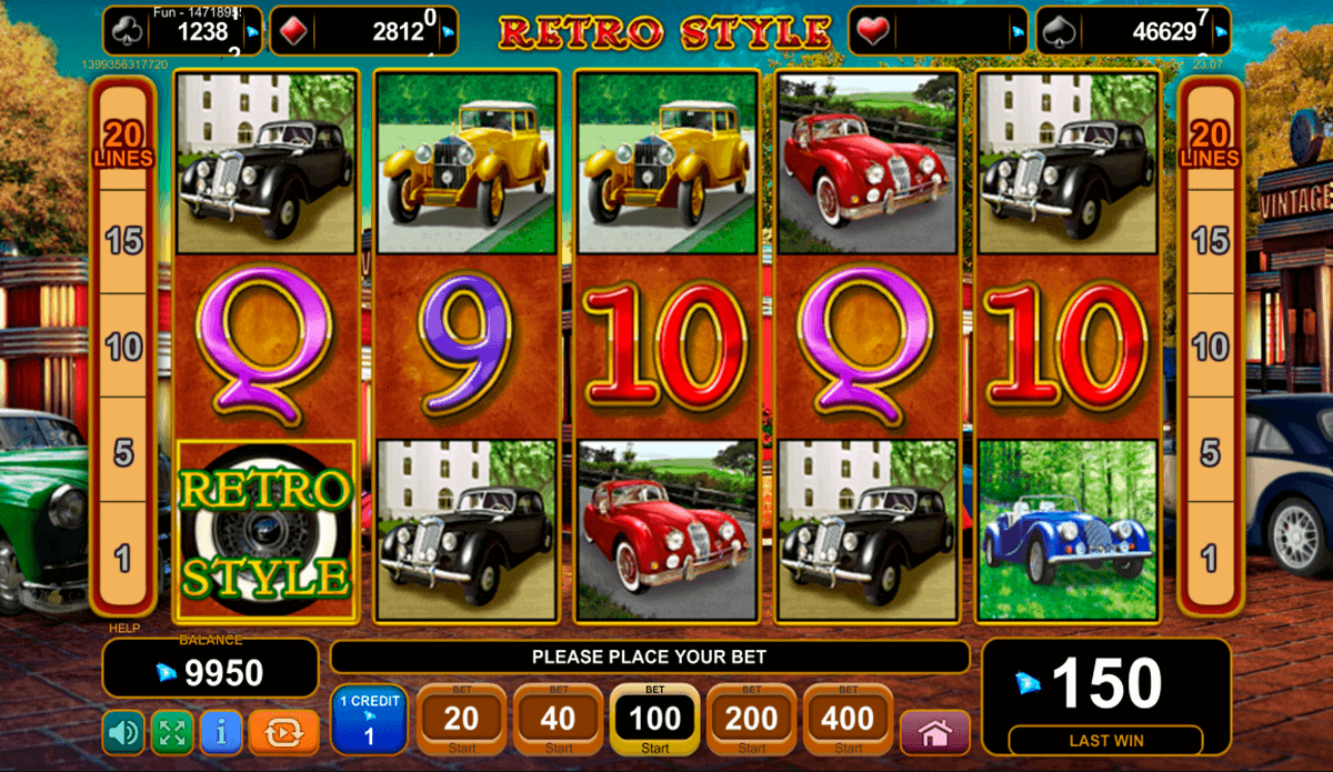 Retro Style Slot Machine - Play EGT Games for Fun Online