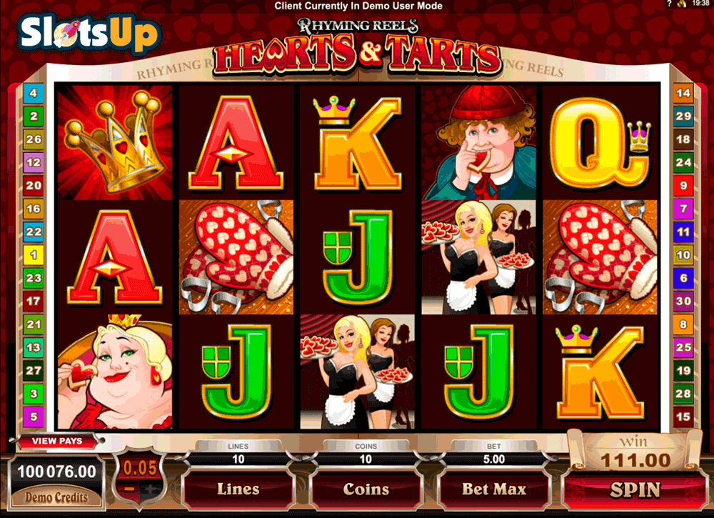 RHYMING REELS HEARTS AND TARTS MICROGAMING CASINO SLOTS