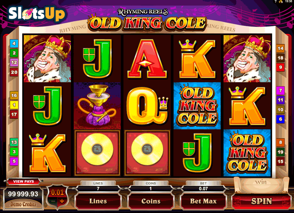 RHYMING REELS OLD KING COLE MICROGAMING CASINO SLOTS