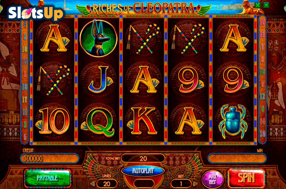 RICHES OF CLEOPATRA PLAYSON CASINO SLOTS