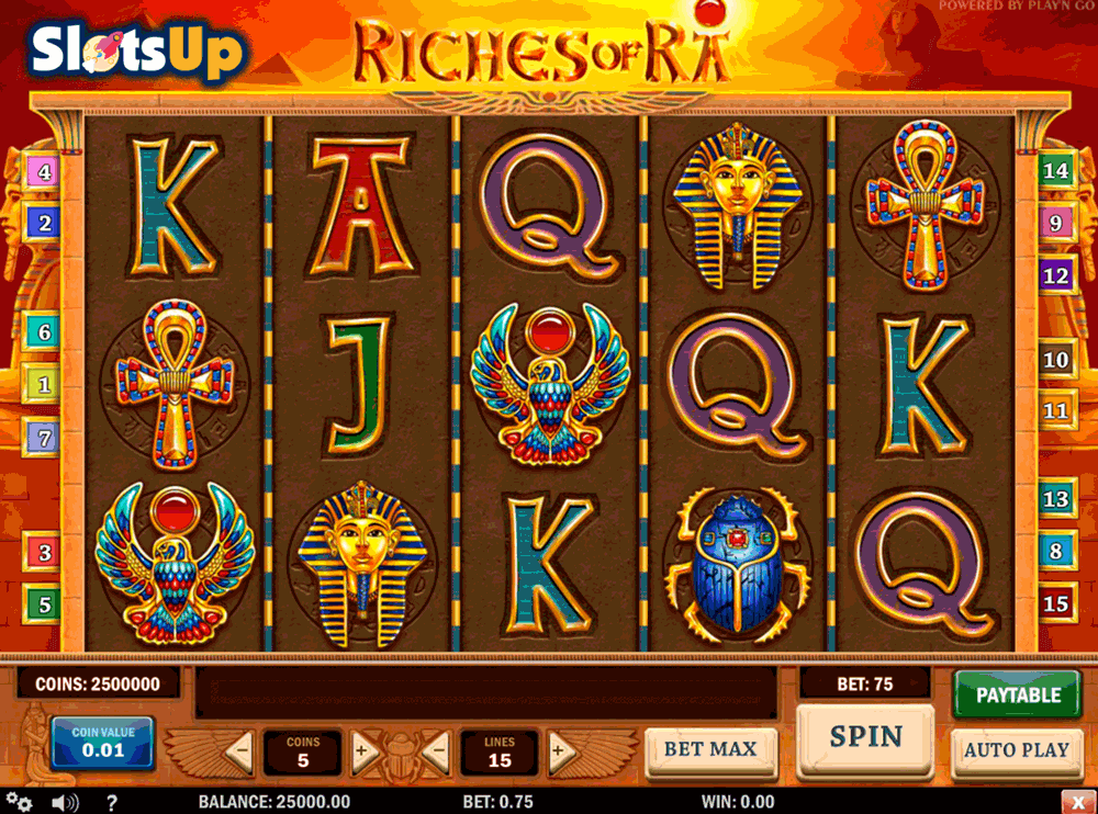 RICHES OF RA PLAYN GO CASINO SLOTS