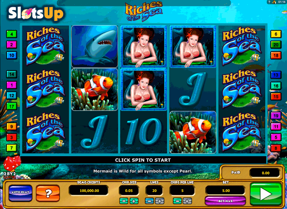 RICHES OF THE SEA 2BY2 GAMING CASINO SLOTS