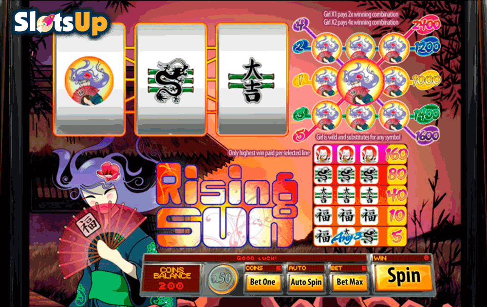 Rising Sun Online Slot Machine - Play the Saucify Slot Free