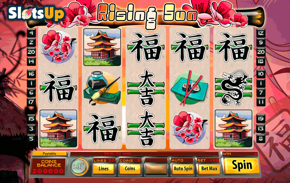 Rising Sun 3 Line Online Slot - Full Review and Free Game