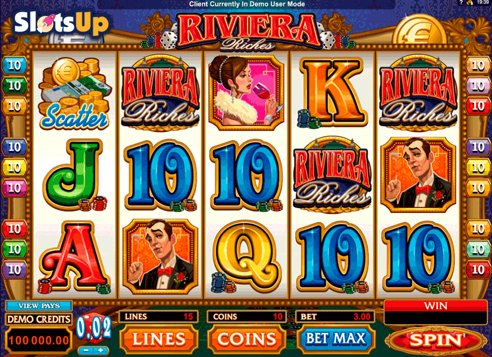 RIVIERA RICHES MICROGAMING CASINO SLOTS