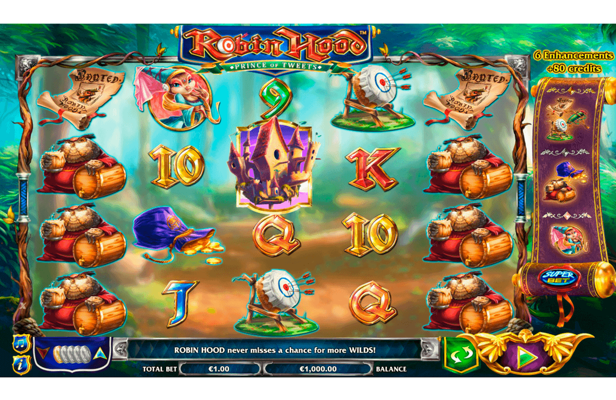 ROBIN HOOD PRINCE OF TWEETS NEXTGEN GAMING CASINO SLOTS