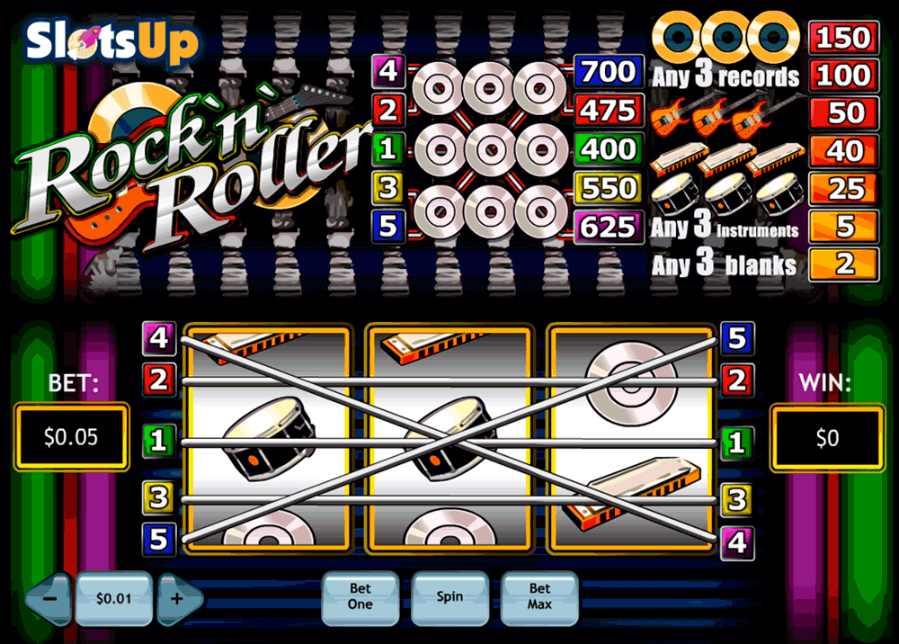 Play RocknRoller Slots Online at Casino.com NZ