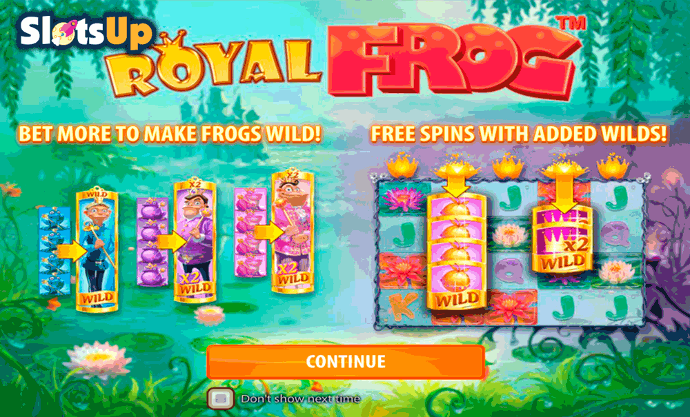 Play Royal Frog online slot at Casumo