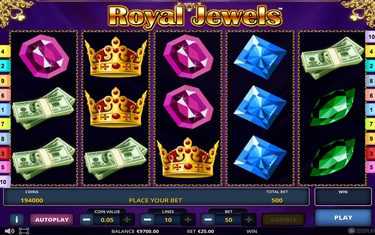 Royal Jewels™ Slot Machine Game to Play Free in Zeus Plays Online Casinos
