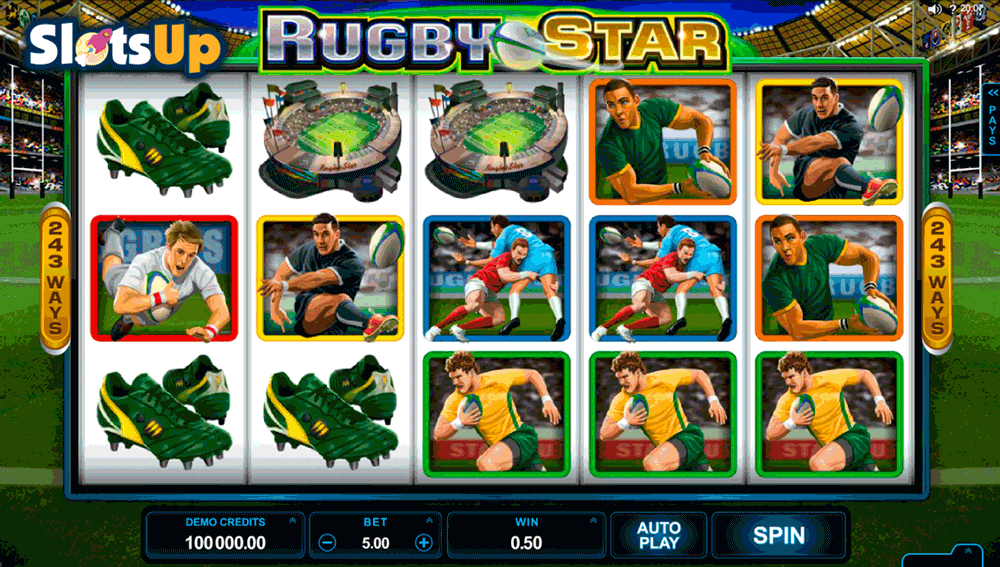 RUGBY STAR MICROGAMING CASINO SLOTS