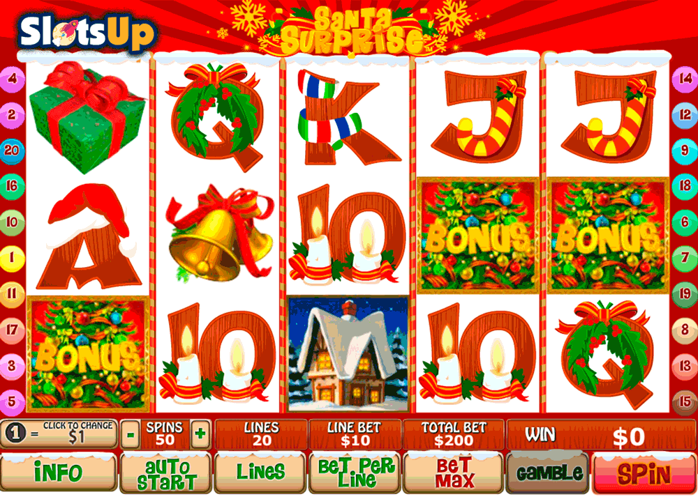 santa surprise playtech casino slots