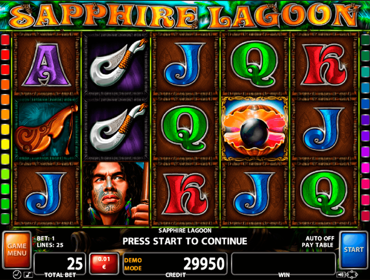 SAPPHIRE LAGOON CASINO TECHNOLOGY SLOT MACHINE