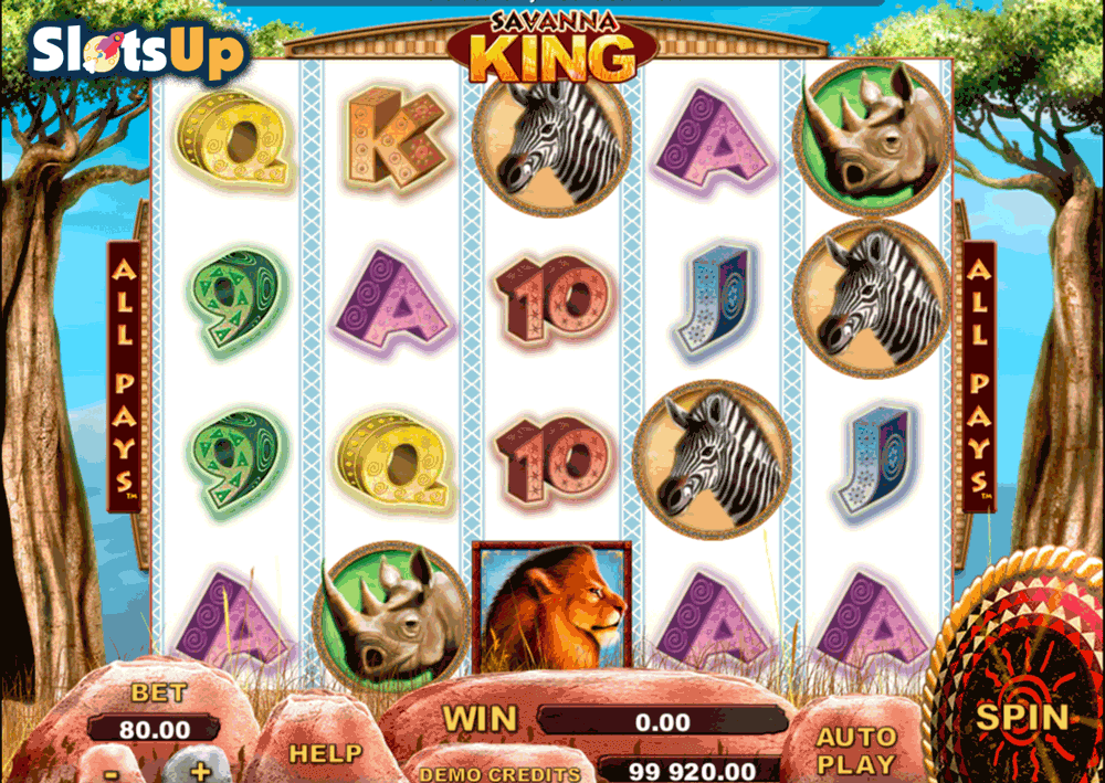Savanna King™ Slot Machine Game to Play Free in Genesis Gamings Online Casinos