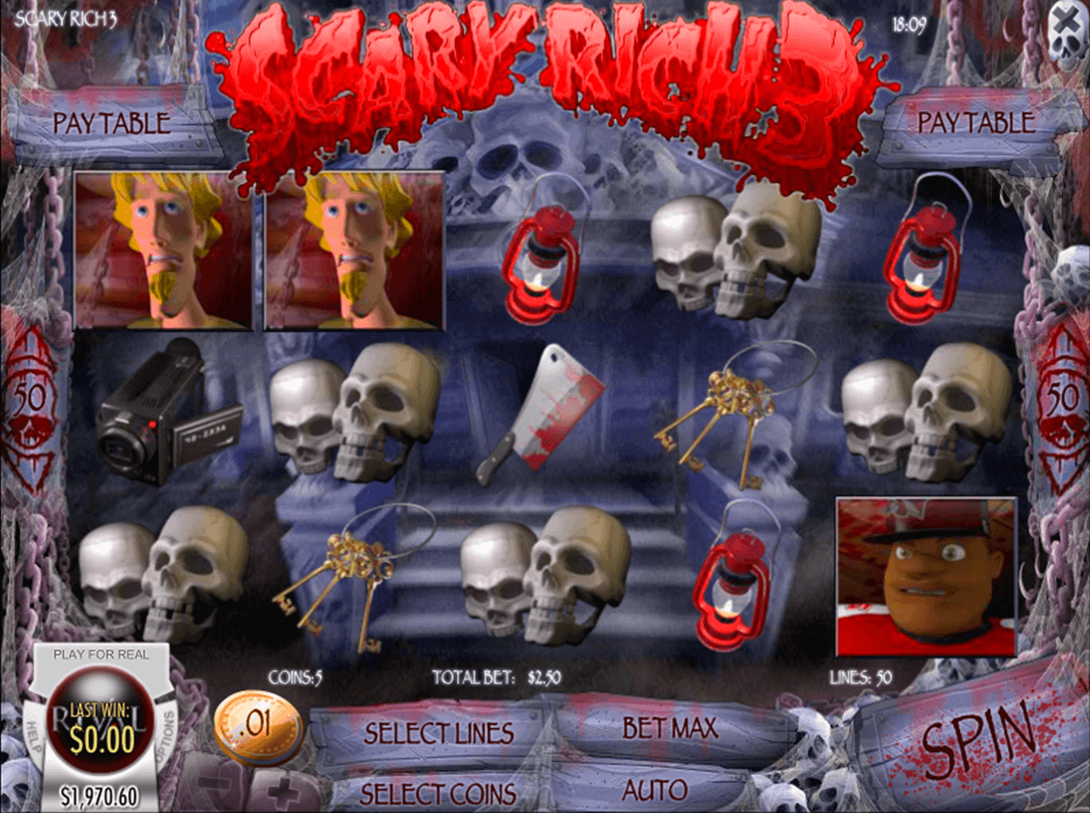 SCARY RICH 3 RIVAL CASINO SLOTS