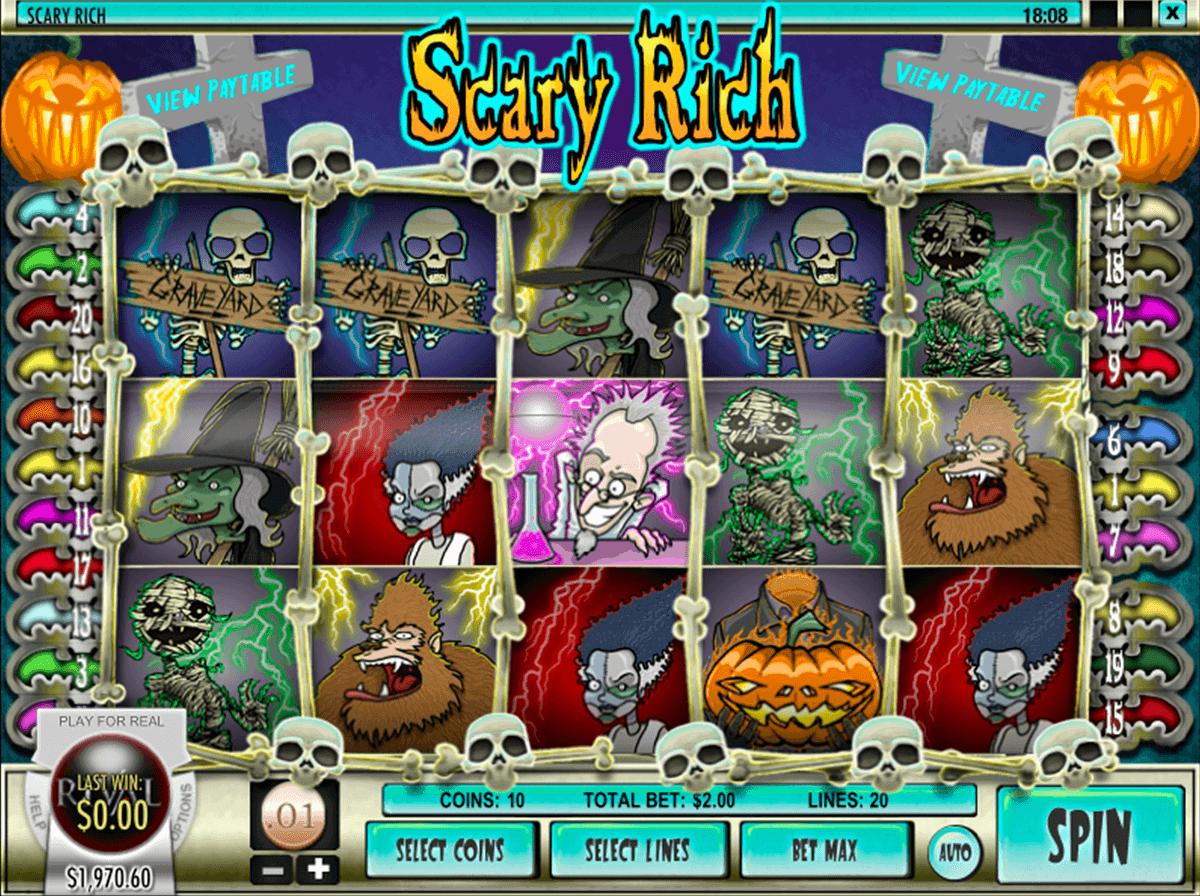 scary rich rival casino slots