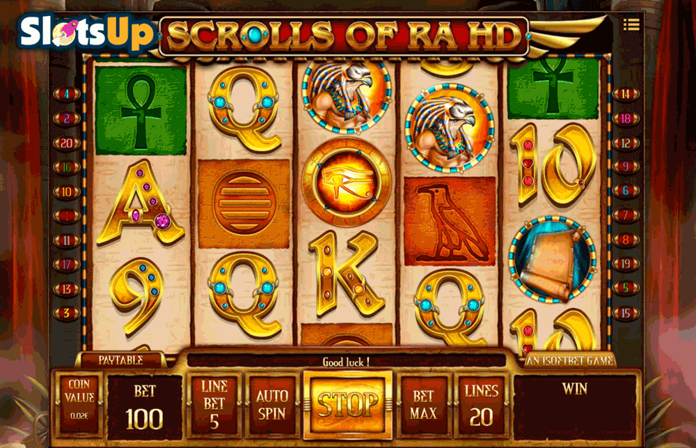 SCROLLS OF RA HD ISOFTBET CASINO SLOTS