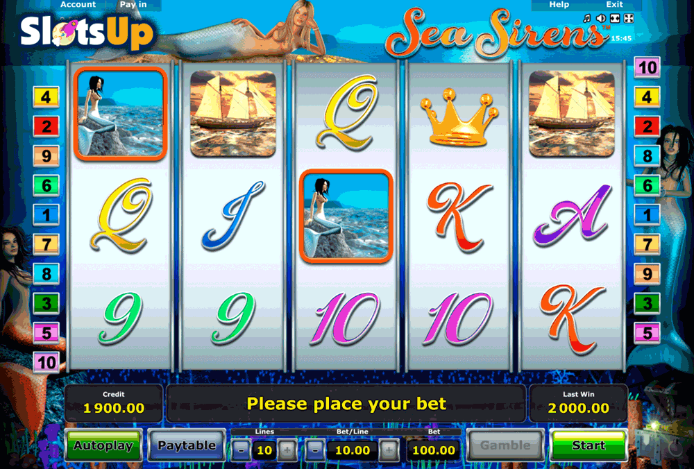 Sea Sirens Slot Machine - Read the Review and Play for Free